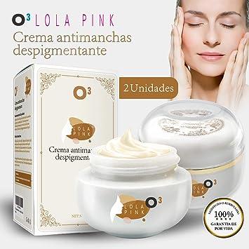 O³ Crema Antimanchas Facial Lola Pink – 2 Unidades x 30 g – Cosmética Anti-