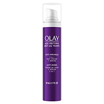 OLAY Age Defying Anti-Wrinkle Daily SPF 15 Lotion 3.40 oz (Pack of 2) Darphin - Intral Redness Relief Recovery Cream (Sensitive Skin) -50ml/1.6oz