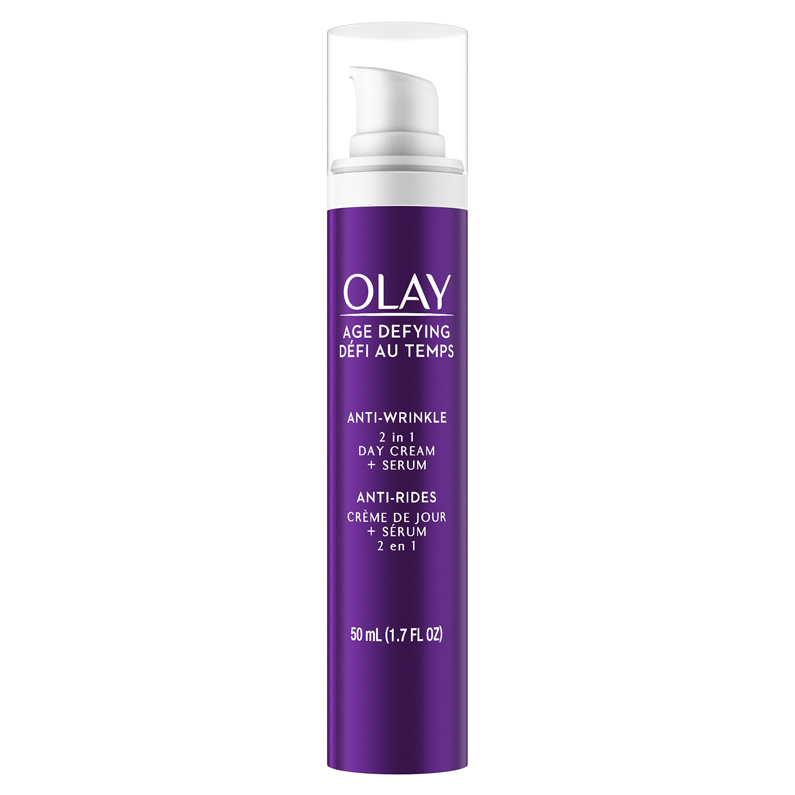 Olay Age Defying Anti-Wrinkle 2-in-1 Day Cream Plus Face Serum, 50 mL