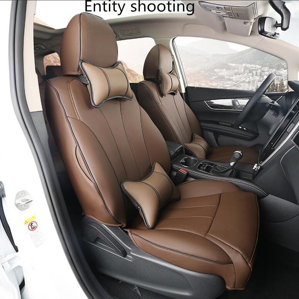 PENG Cojín del asiento del automóvil con protección del medio ambiente resistente a la fibra doble inodoro respirable resistente al fuego arruga fácil de ...