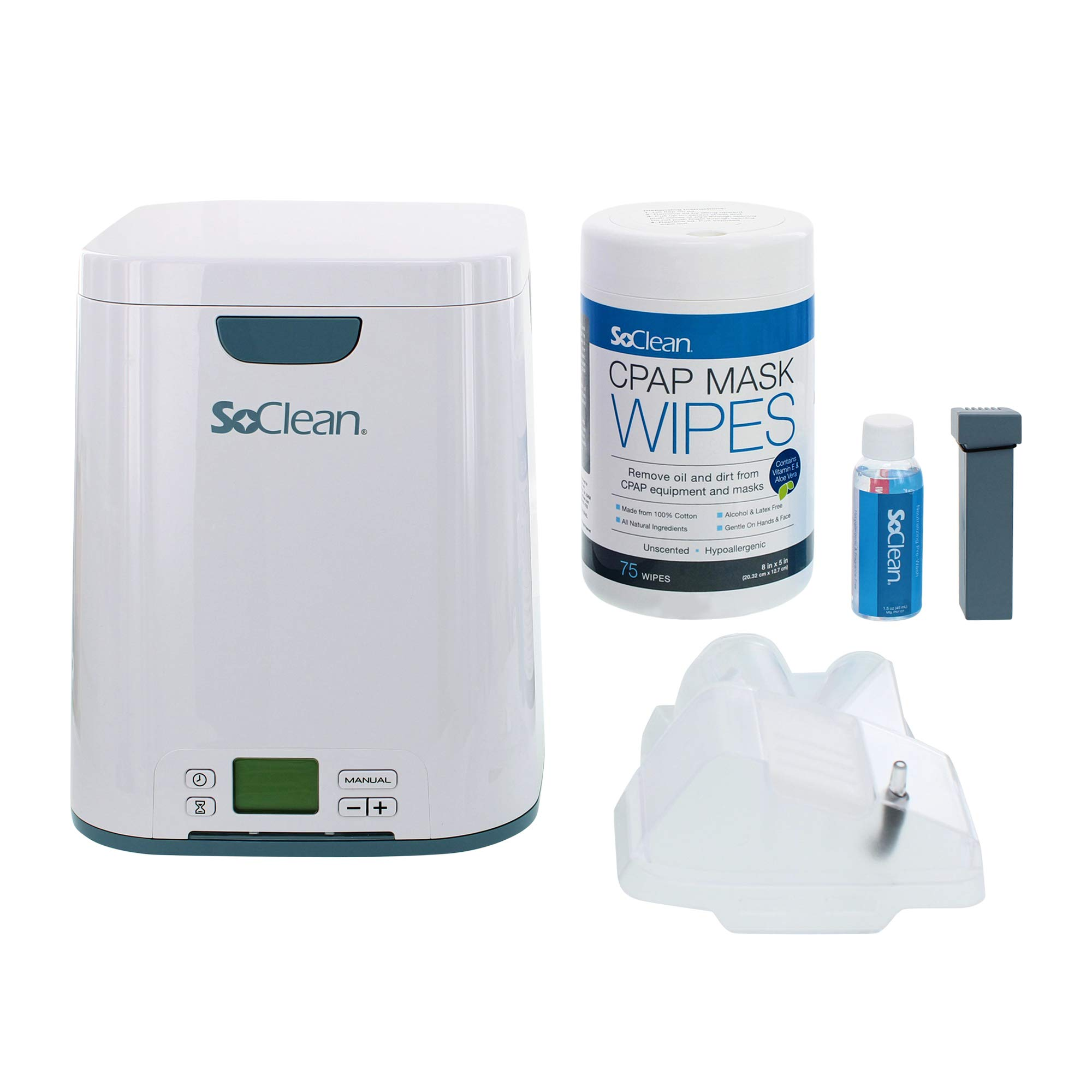 SoClean 2 CPAP Cleaner and Sanitizing Machine with AirSense 10 Adapter, CPAP Filters, CPAP Hose, and Mask Wipes