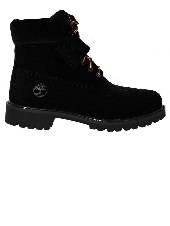 5314965f686da OFF-WHITE Hi Top Sneakers Donna Omia054f174780941000 Camoscio Nero  Amazon. it  Scarpe e borse