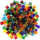 Lovoski 全3タイプ選べる DIY 西洋風 工芸品 約250個 多色 カラフル クリア ガラス モザイクタイル 芸術 手作り  - 正方形