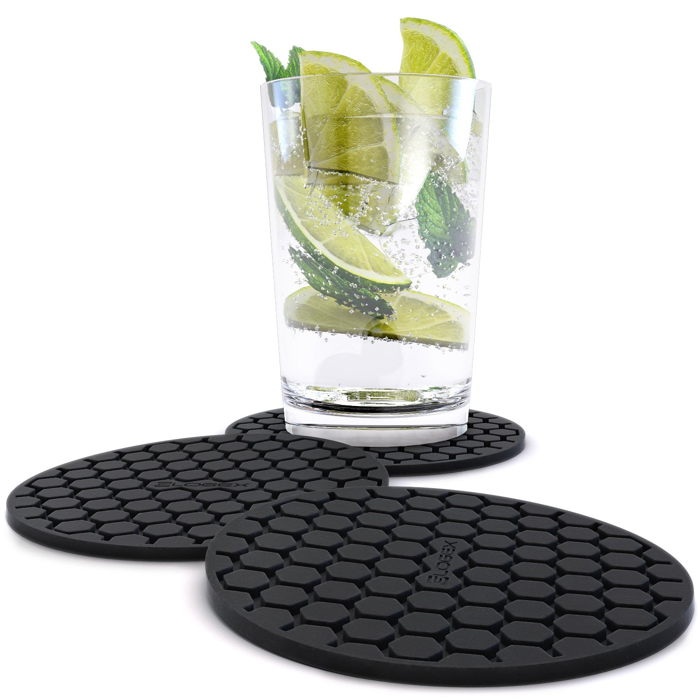 shop amazoncom  coasters - amazing quality drink coaster set (pc) sleek modern design preventsfurniture damage absorbs spills and condensation top grade silicone Ð