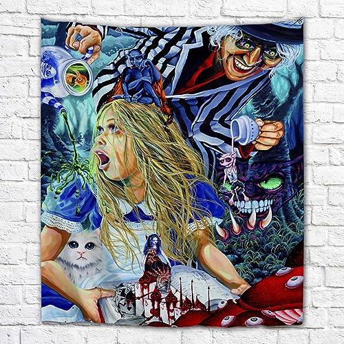 Imagination of Robert Walker Alice in Wonderland Large Art Tapestry