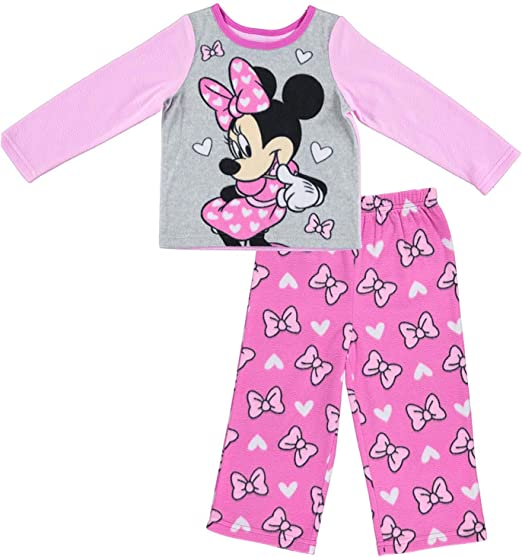Older Girls Minnie Mouse Pyjamas Grey Pink 4-5 years 9-10 years