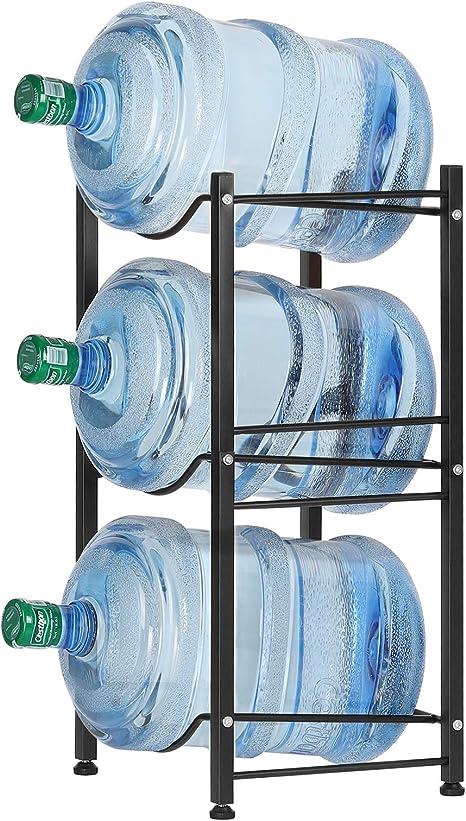 3//4//5 Tier Water Bottle Rack Storage Holder Jug Rack For 5 Gallon Shelf Durable