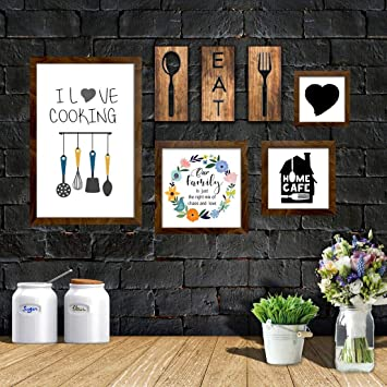 Buy The House Of Memories Kitchen Set Of 7 Kitchen Wall Decor Plaque Kitchen Wall Art Rustic Home Decor Kitchen Decor Online At Low Prices In India Amazon In