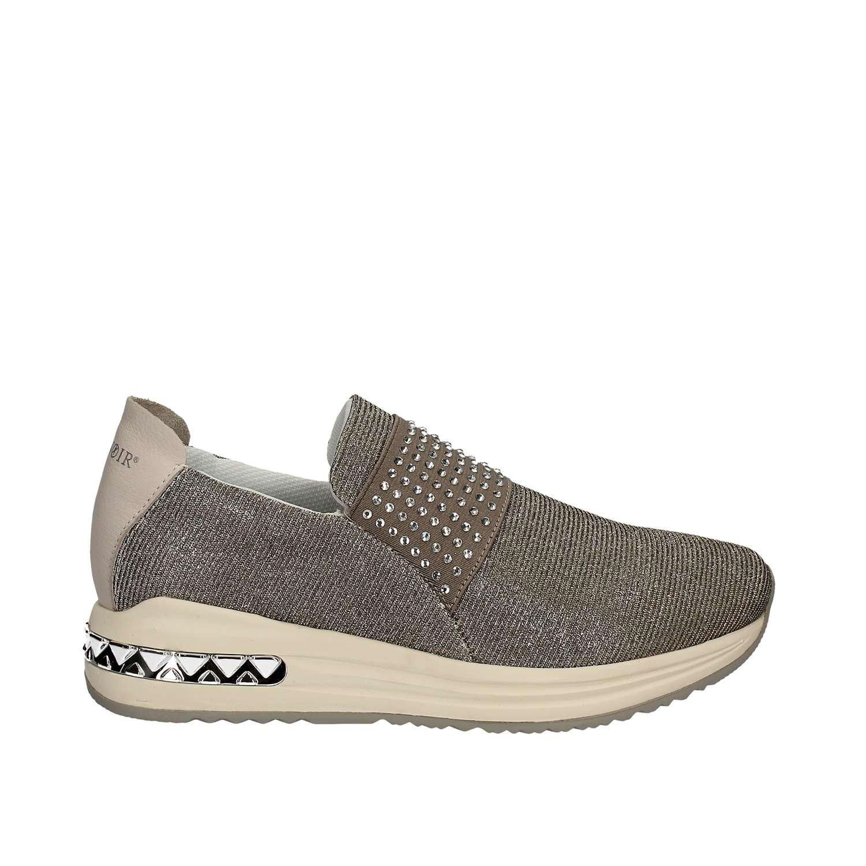 CAF NOIR DA945 DA945 DA945 silberne Schuhe Frau sheakers niedrigen Schlupf auf elastischen Argento 589498