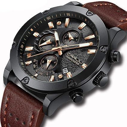 SW Watches CRRJU Relojes De Cuarzo para Hombre Moda Casual Sport Reloj De Pulsera Impermeable,