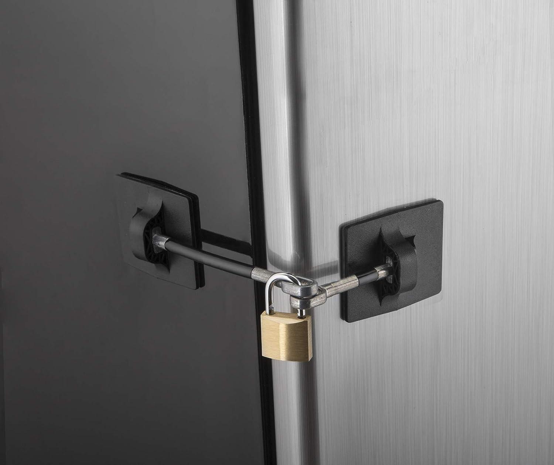 Cerradura de Puerta del gabinete Armario Seguridad del refrigerador de Tela Correa de la Cerradura de Seguridad para ni/ño de Protecci/ón de la Infancia del caj/ón