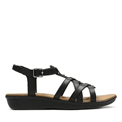 44ac3c5300cc3 Clarks Manilla Bonita Leather Sandals in Black Wide Fit Size 5½   Amazon.co.uk  Shoes   Bags