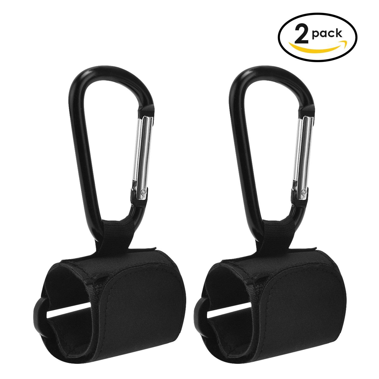 Stroller Hooks, Rainbrace 2 Pack Multi Purpose Hooks Set Stoller Organizer Accessory Velcro Hooks, Hangs Shopping Bags/Baby Diaper Bags/Purse/ Groceries