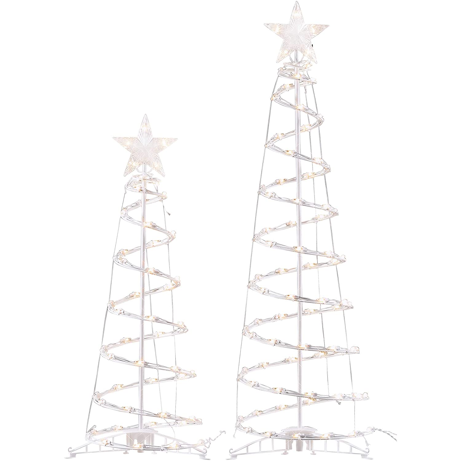 Holiday Time 2pk Light Up Clear Spiral Trees by Holiday Time Freshlook 69-918
