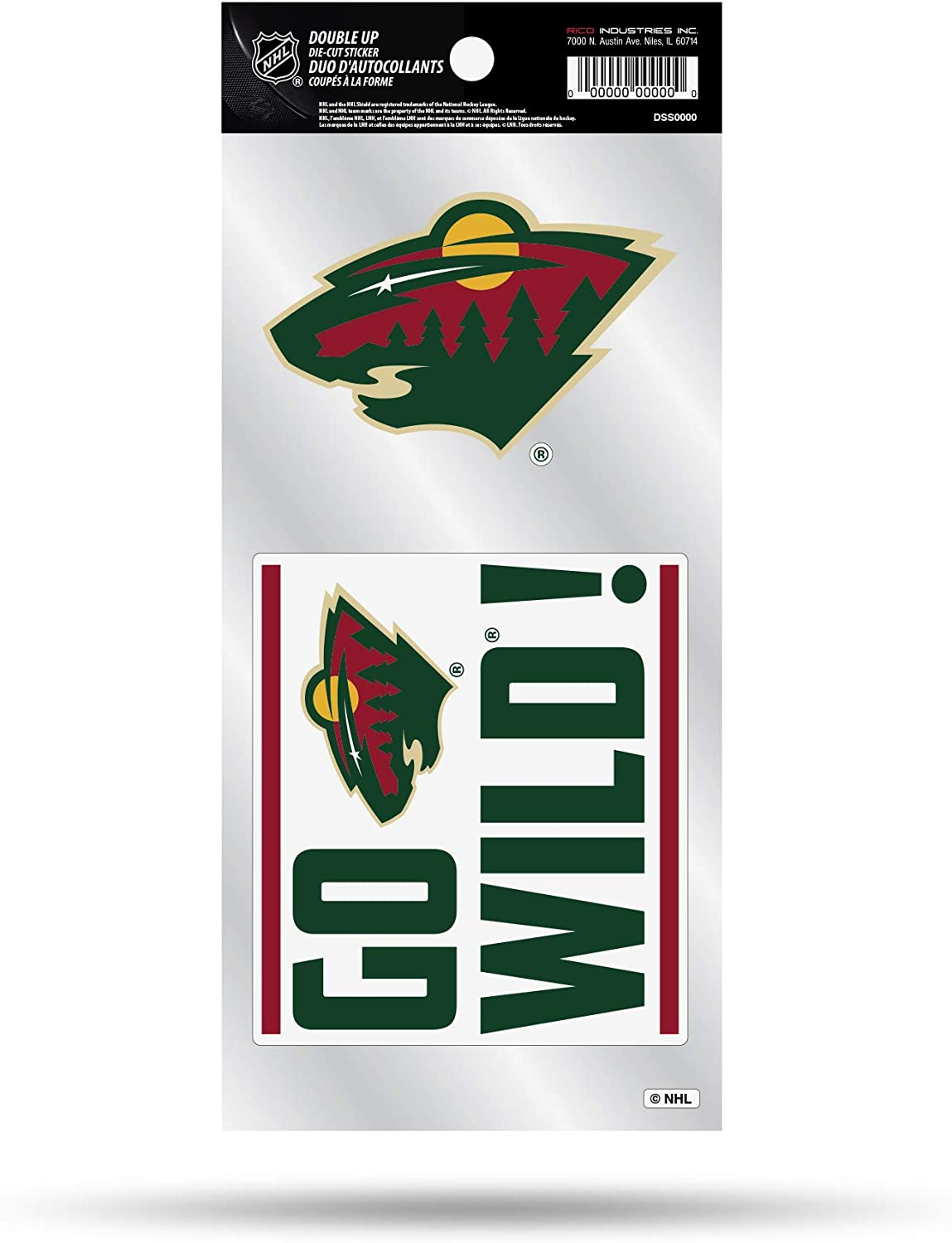 Rico Industries NHL Double Up Die Cut 2-Piece Sticker Sheet