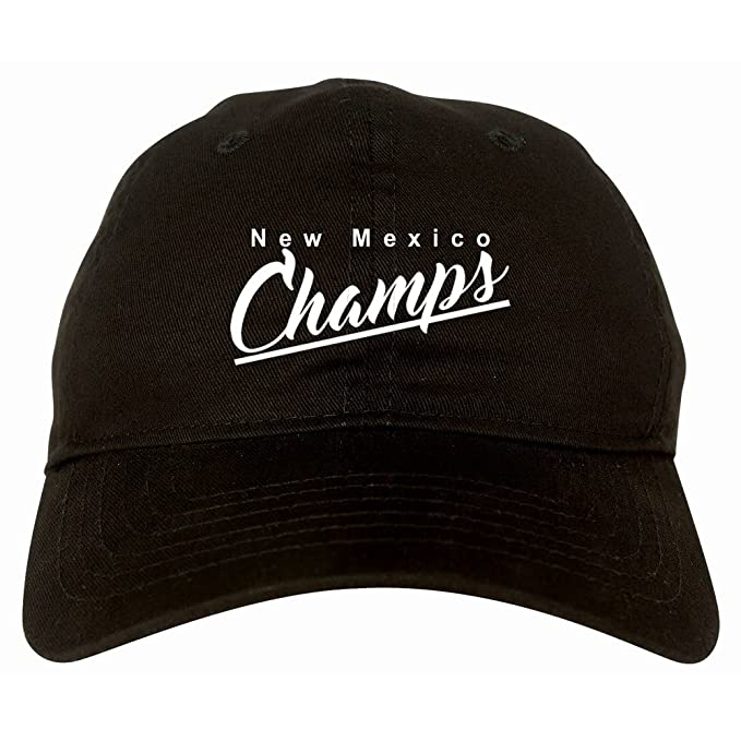 NM New Mexico Champs Champions State Script 6 Panel Dad Hat Black at Amazon  Men s Clothing store  873b0cc2c4e