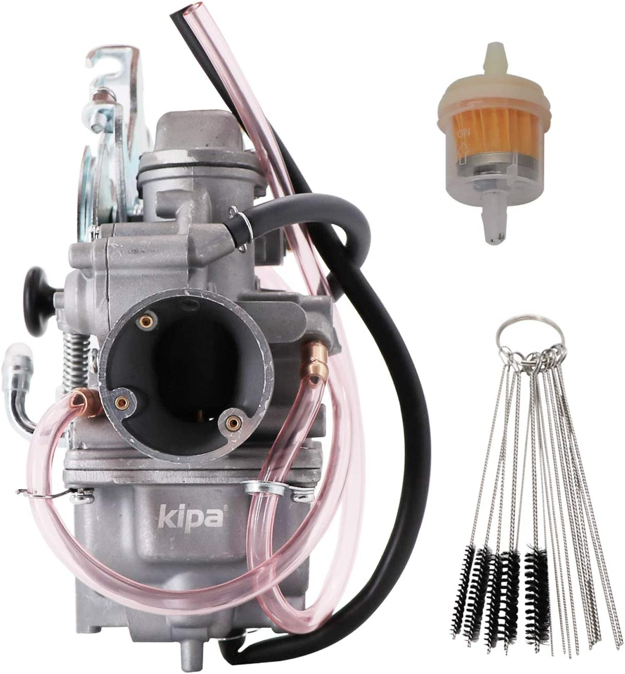 KIPA Carburetor for Yamaha TTR-230 TTR 230 Pit Dirt Bike 2005-2009 Replace OE Part # 1C6-14301-00-00 With Filter /& Carbon Dirt Jet Cleaner Tool Kit Durable