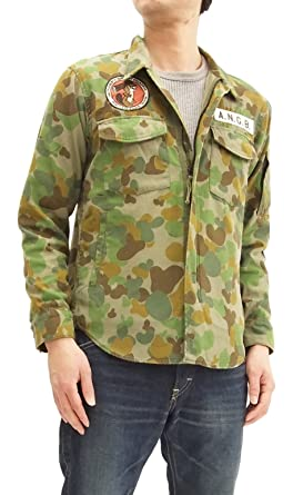 7ed494245aa7c Pherrow's Men's Military DPCU Camo Shirt Jacket Patch and Stencil  18S-PEGJ1-AC Japan