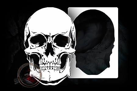 Professional Airbrush Stencil Skull Design