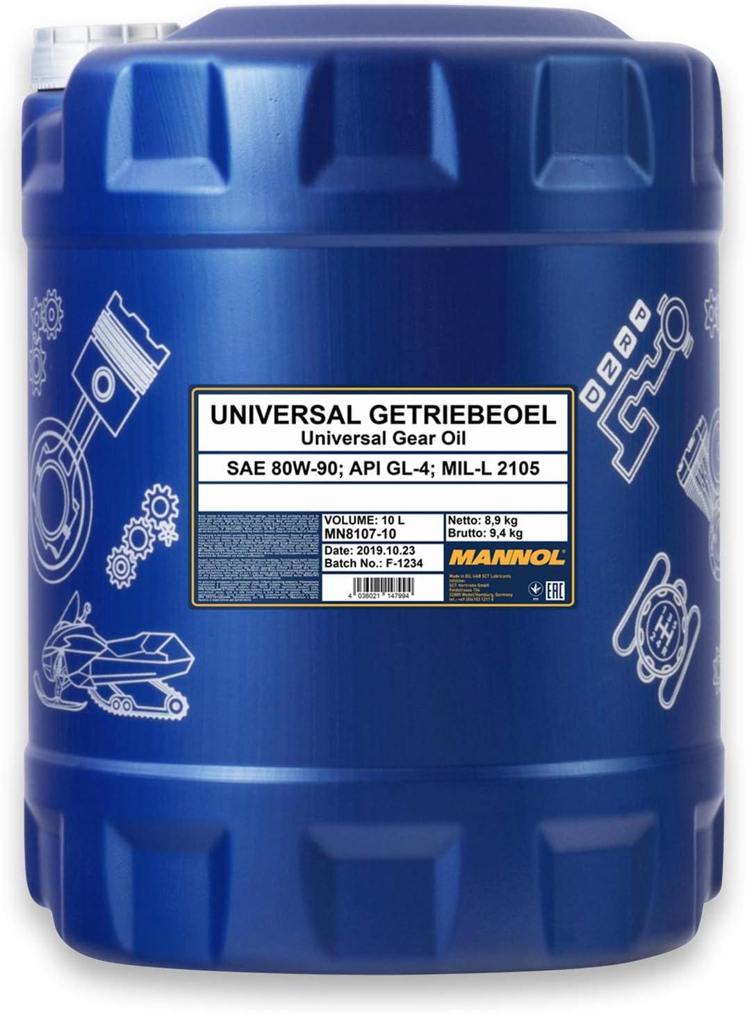 Mannol Universal Getriebeoel 80w 90 Api Gl 4 Schaltgetriebeöl Öl Auslaufschlauch Auto