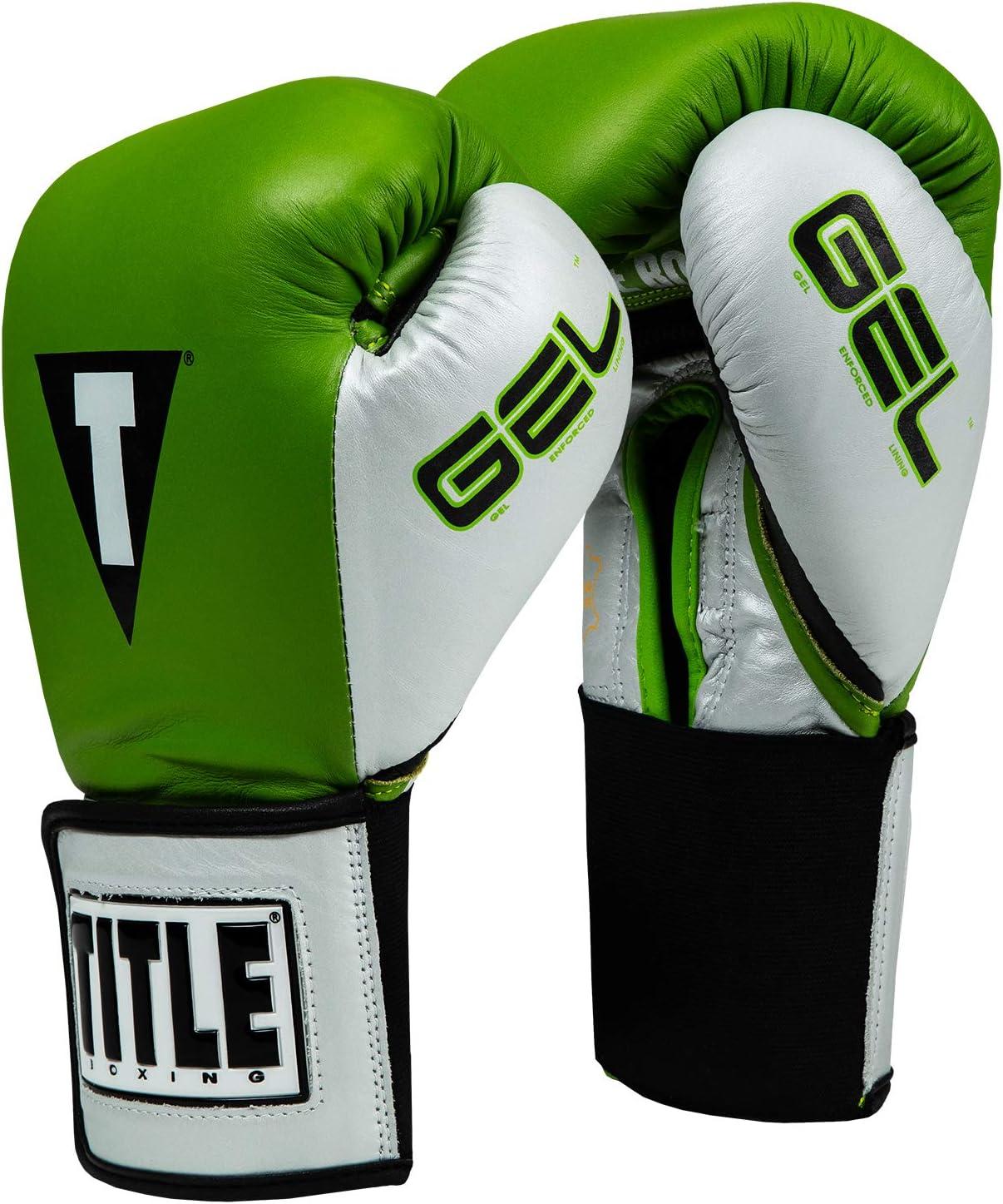 タイトルジェルWorld v2tトレーニング手袋 緑/銀/黒 16 oz