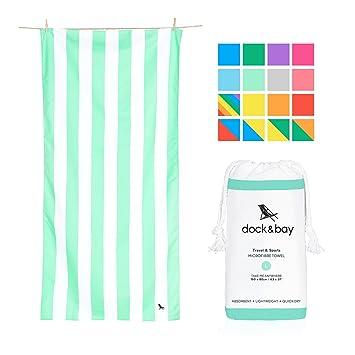 Dock & Bay Toallas de microfibra para playa y viajes - Cabana Claro- Gris -