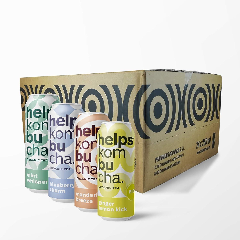 HELPS INFUSIONES - Kombucha Sabores Variados. Caja de 24 latas de 250 ml: Amazon.es: Alimentación y bebidas