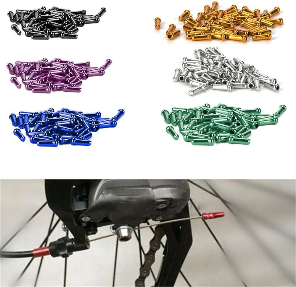 Hunpta 50pcs Aluminum Bike Bicycle Brake Shifter Inner Cable Tips Wire End Cap Crimps