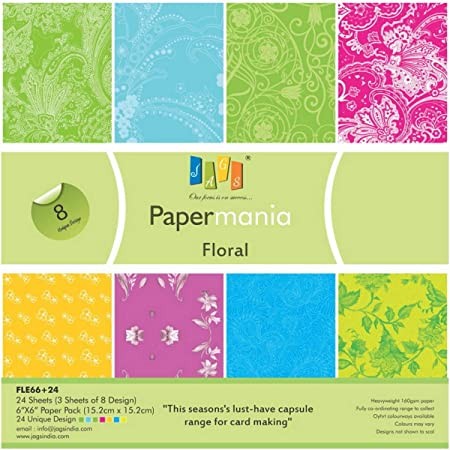 3 Sheets Each of 10 Designs for Making DIY Greetings and Scrapbooking JAGS Papermania Signature 6x6 Inch Printed Paper for Crafts Pack of 30