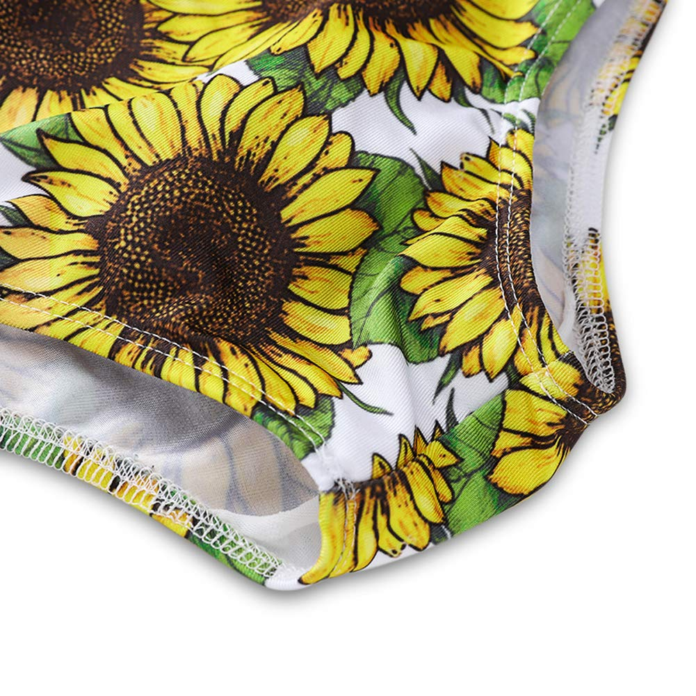 YOUNGER TREE Baby Girls Tropic One Piece Swimsuit Swimwear Bathing Suit Rash Guard Sunflower