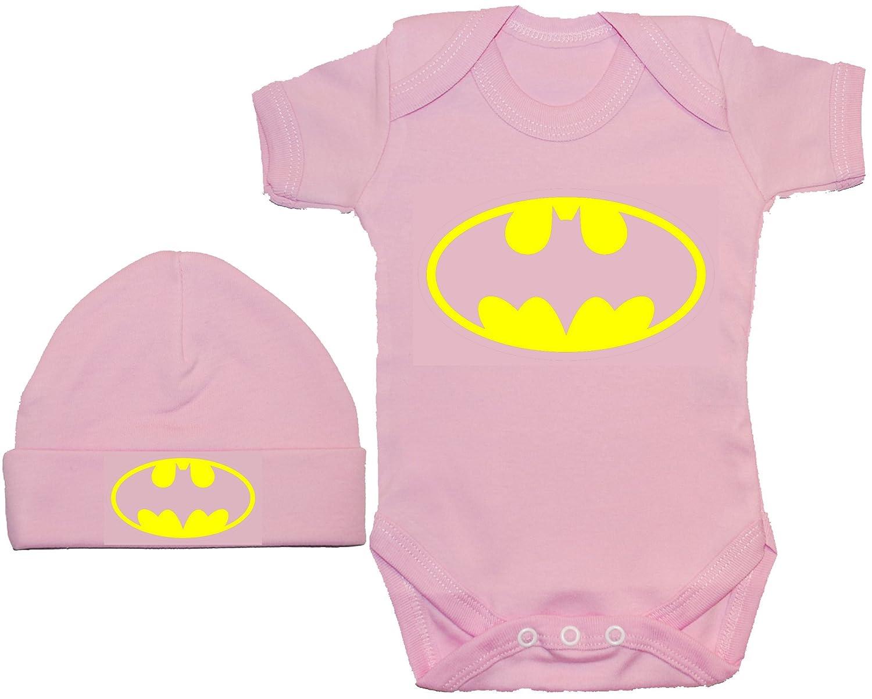 Acce Products Bat Baby Grow/Bodysuit/Romper/T-Shirt & Beanie Hat/Cap 0 to 12 Months Batman
