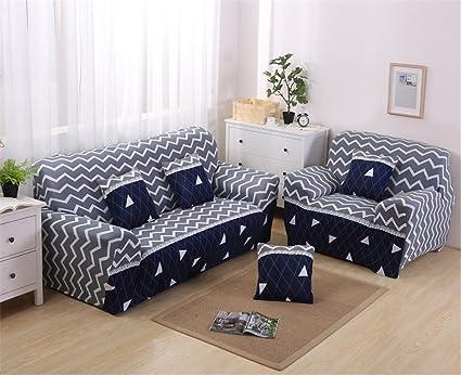 Amazon.com: CHITONE Polyester Sofa Cover Elastic Spandex ...