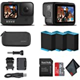 GoPro HERO9 Black - Waterproof Action Camera with Front LCD and Touch Rear Screens, 5K HD Video, 20MP Photos, 1080p Live Stre