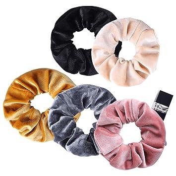 5PCS Scrunchies Pack Elastic Hair Bands Scrunchy Women Girls NEW