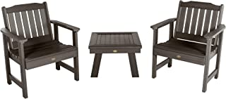 product image for highwood AD-KITCHGL2-ACE Lehigh 2 Garden Chairs with 1 Square Side Table, 3-Piece Set, Weathered Acorn