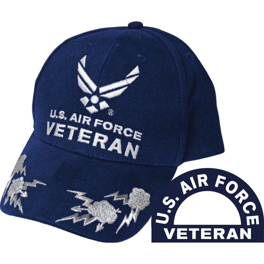 8928fc2a43b Amazon.com  United States Air Force Veteran II Blue Hat Cap USAF  Sports    Outdoors