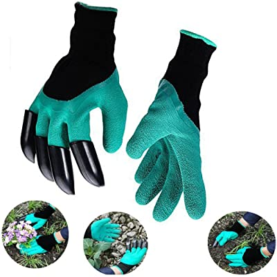 Work Gloves Garden with Fingertips Right Claws Quick & Easy to Dig and Plant Safe for Pruning, Digging & Planting Nursery Plants Medium, Best Gardening Tool for Gardeners Gift (1 pair) (green) : Garden & Outdoor