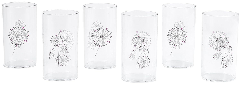 Signoraware Angelica Big Glass, Set of 6, Transparent