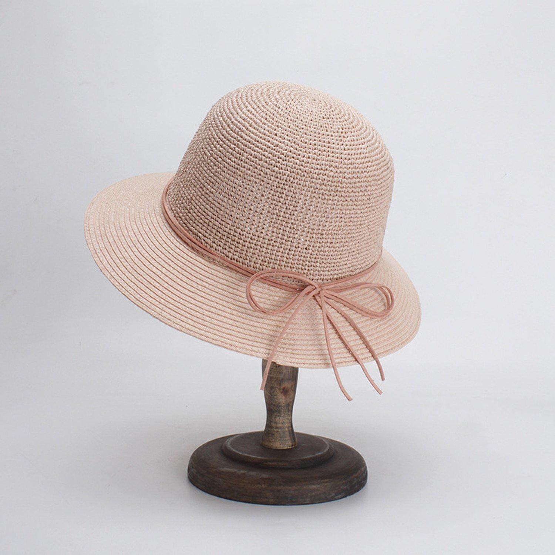 Sombrero de señora coreana elegante arco pescador sombrero visera ...