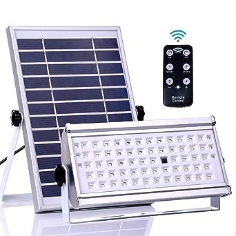 Luces solares para exteriores, ALFLASH 1500 Lumen 65 LED Sensor de movimiento solar Luces de seguridad ...