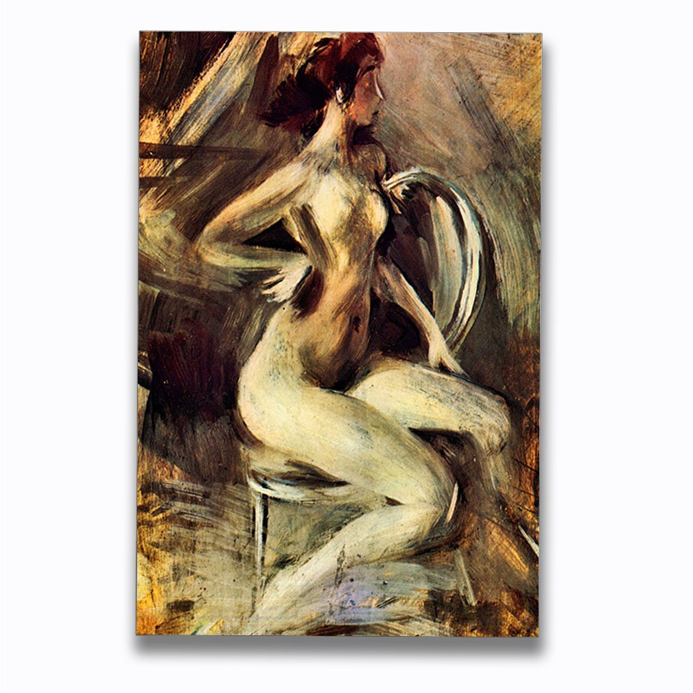 Amazon.com  Nude from The Side (Boldini) Aluminum Metal Photo Print Wall  Art Wall Décor - 8