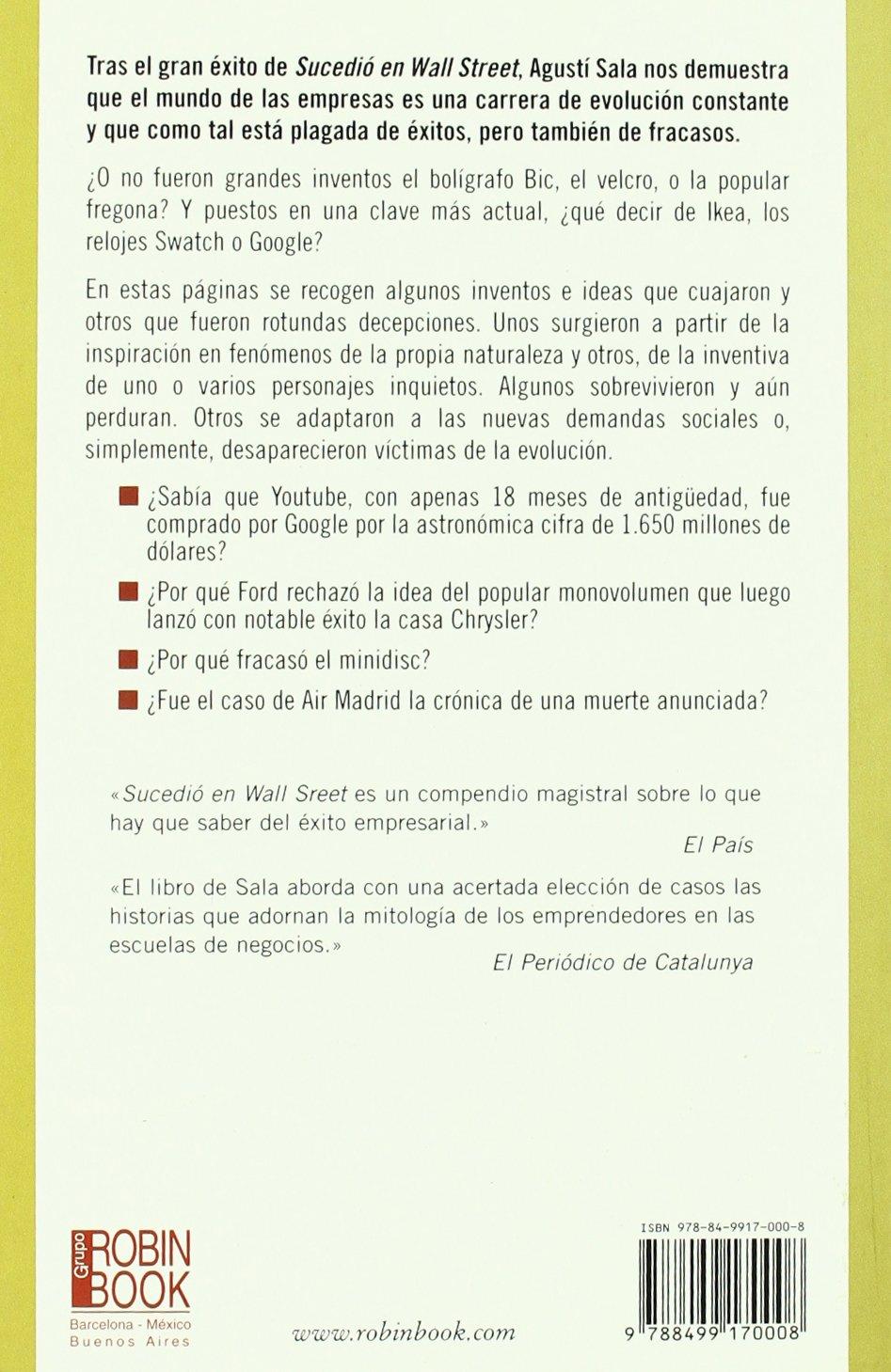 HISTORIAS CURIOSAS DE LOS NEGOCIOS (Spanish Edition): SALA AGUSTI: 9788499170008: Amazon.com: Books