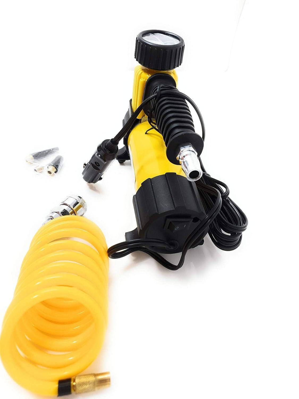 compressore ad aria con 1,5m TUBO COMPRESSORE piccolo manometro fino a 7 BAR 40l//min Compressore daria compressore per 12 Volt pompa auto-kompressor AUTO PORTATILE