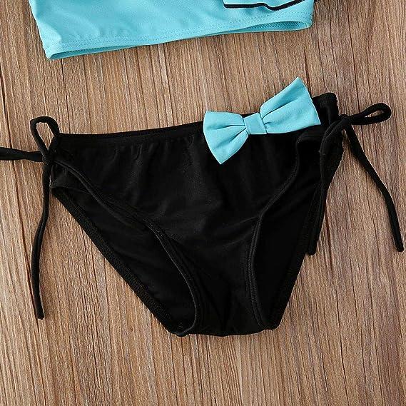 mlpeerw Toddler Baby Girl Leopard Swimsuit Kids One Piece Cross Back Ruffle Bathing Suit Bikini Tankini Beachwear