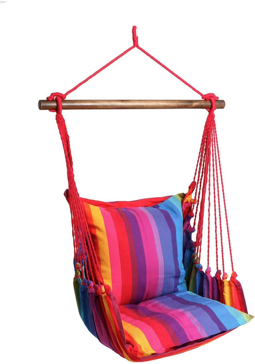 maDDma /® H/ängesessel H/ängesitz Relax handgewobene Baumwolle Streifen ohne Kissen 160