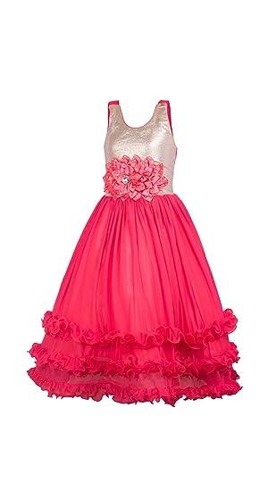 8fe3c148b My Lil Princess Baby Girls Birthday Party wear Frock Dress Ocean Red ...