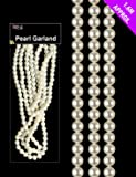 1.6 Metre Pearl Bead Garland - Pearl Beads For Christmas Tree Decoration