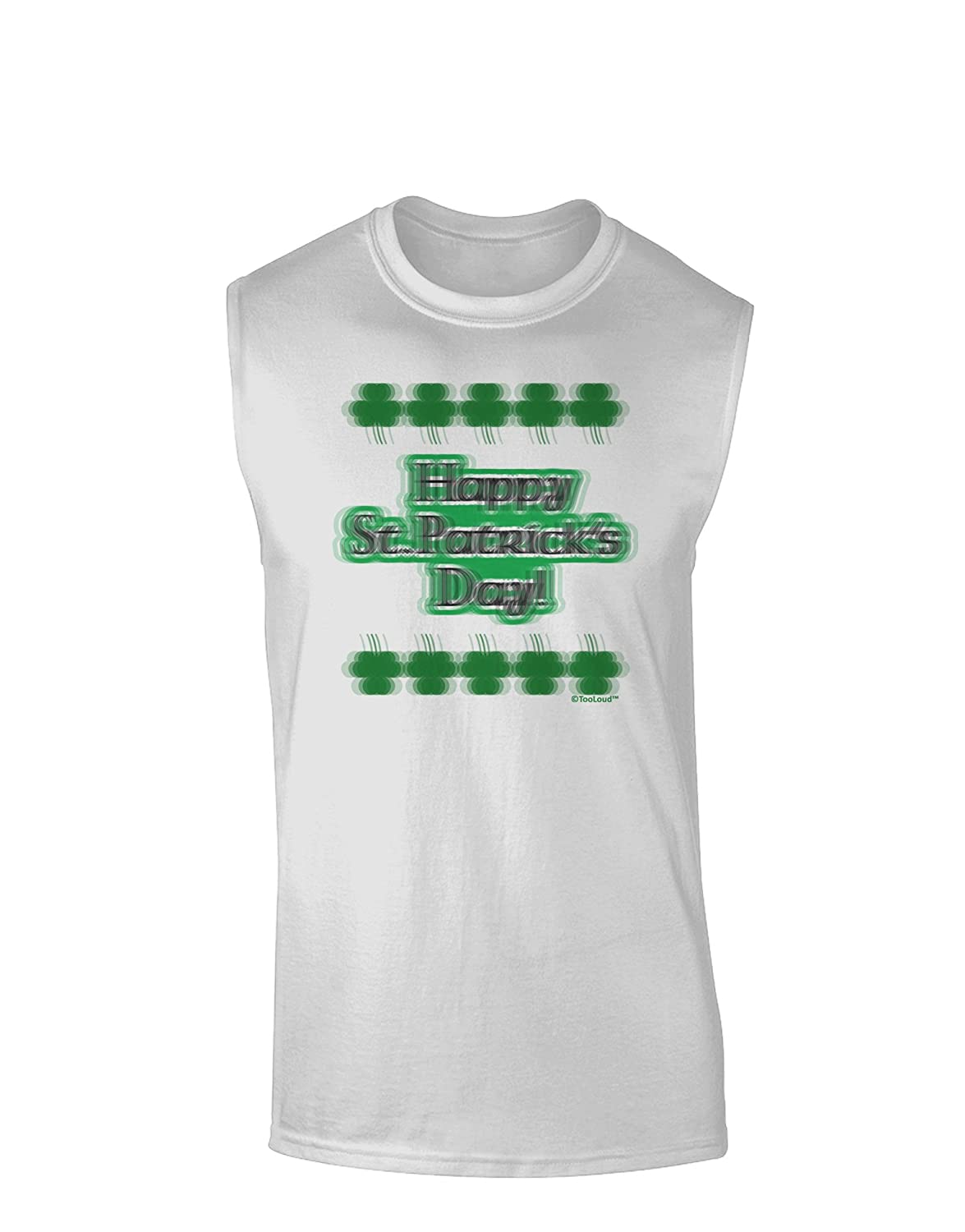 TooLoud Seeing Double St Patricks Day Muscle Shirt