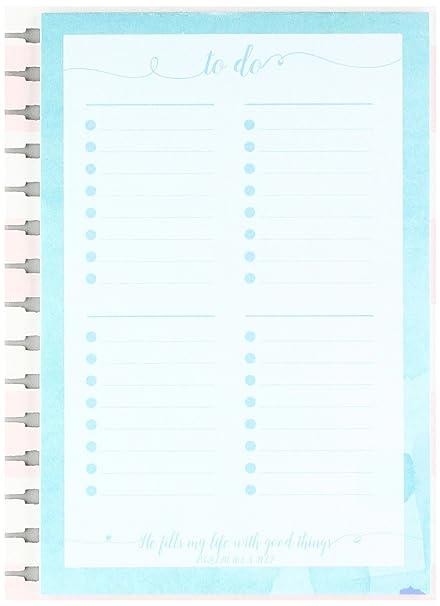 Amazon.com : Memo Pad Insert for Agenda Planner - To Do List ...