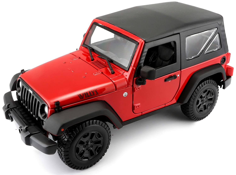 Jeep Wrangler Modellino Maisto 31676 Scala 1:18 Colori Assortiti: Giallo//Rosso